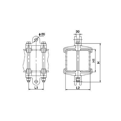MCD型槽形母线吊挂金具